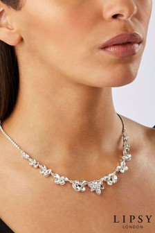 Lipsy Mixed Shape All Way Crystal Necklace