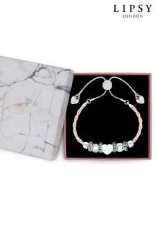 Lipsy Gift Charm Plait Strap Bracelet
