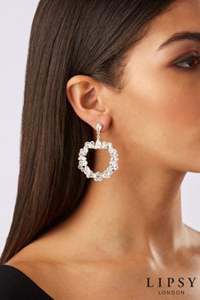 Lipsy Encrusted Front Facing Drop Earrings