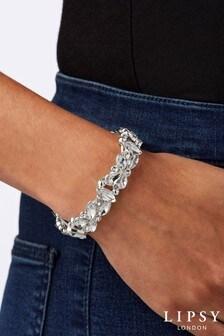 Lipsy Crystal Mix Stone Stretch Bracelet