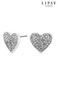 Lipsy Pave Crystal Stud Earrings