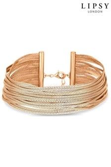 Lipsy Slinky Gold Bracelet