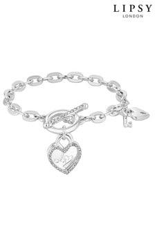 Lipsy Heart Charm T Bar Bracelets