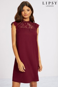 Lipsy High Neck Lace Insert Dress