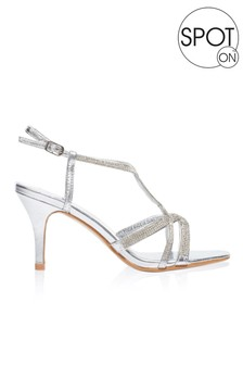 Spot On Diamanté Strappy Sandal