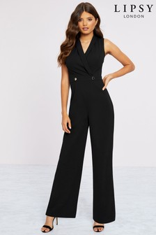 Lipsy Tux Button Jumpsuit