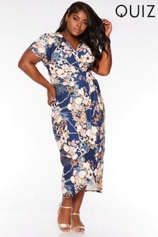 Quiz Curve Wrap Front Dress