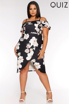 Quiz Curve Floral Print Dress