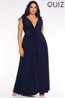 Quiz Curve Knot Front Maxi Dress