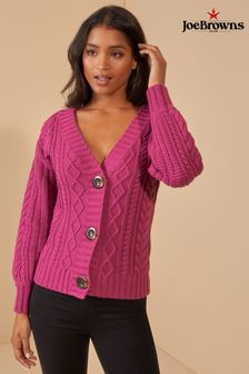 Joe Browns Bell Sleeve Cable Knit Cardigan