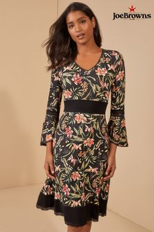 Joe Browns Fluted Sleeve Jersey Dress