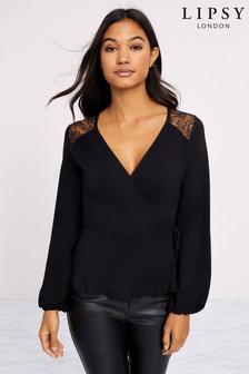 Lipsy Lace Wrap Top