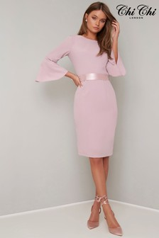 Chi Chi London Bodycon Flute Sleeve Dress