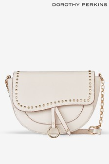 Dorothy Perkins Stud Detail Saddle Bag