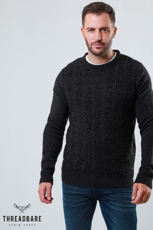 Threadbare Textured Knit Crew Neck Jumper