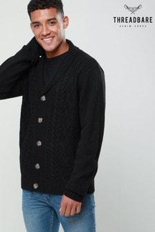 Threadbare Textured Knit Shawl Collar Cardigan