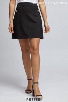 Dorothy Perkins Petite Popper Mini Skirt