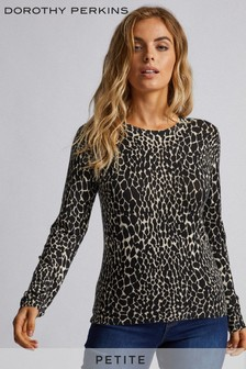 Dorothy Perkins Petite Animal Print Jumper