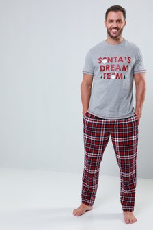Threadbare Brushed Check PJ Set