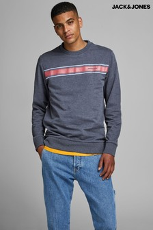 Jack & Jones Chest Stripe Sweatshirt