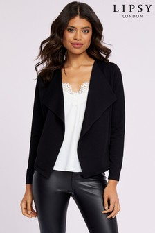 Lipsy Ribbed Waterfall Jersey Jacket
