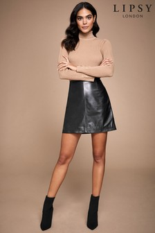 Lipsy Leather Mini Skirt