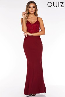 Quiz Sequin Lace Maxi Dress