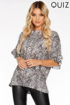 Quiz Leopard Print Top
