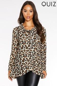 Quiz Leopard Print Jumper