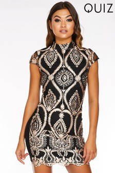 Quiz Sequin Mini Dress
