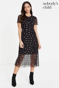 Nobody's Child Hallie Short Sleeve Midi Dress
