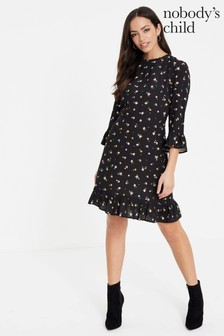 Nobody's Child Ditsy Print Frill Mini Dress