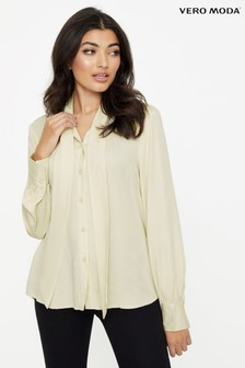 Vero Moda Long Sleeve Bow Tie Shirt