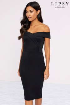 Lipsy Scuba Bardot Dress