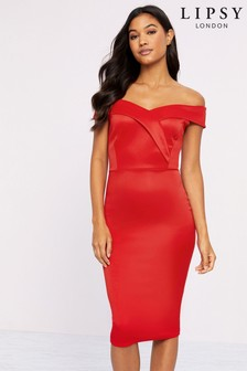 Lipsy Scuba Bardot Dress
