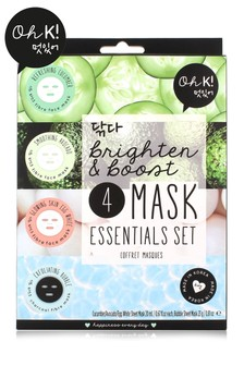 Oh K! Brighten & Boost 4 Mask Essentials Set