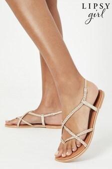 Lipsy Leather Plaited Sandal (Older)
