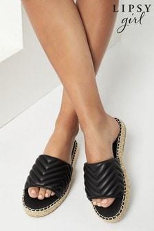 Lipsy Quilted Mule Flatform Sandal (Older)