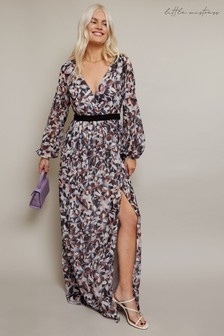 Little Mistress Denise Abstract Print Maxi Dress