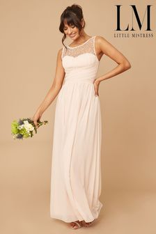 Little Mistress Grace Bridesmaid Embellishment Sweetheart Maxi Dress