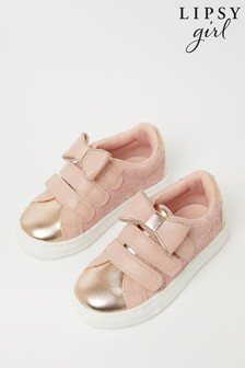 Lipsy Velcro Bow Trainer (Younger)