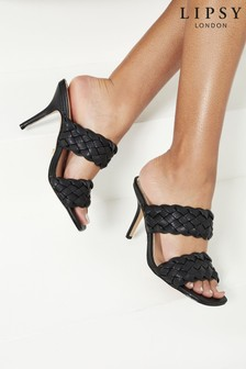 Lipsy Two Strap Weave Heeled Sandals