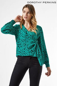 Dorothy Perkins Animal Wrap Top