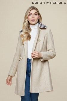 Dorothy Perkins Oatmeal Dolly Coat