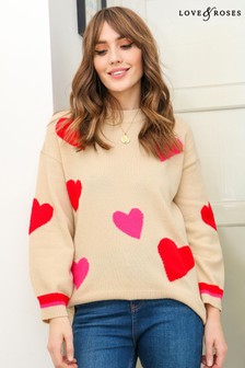Love & Roses Cosy Longline Jumper