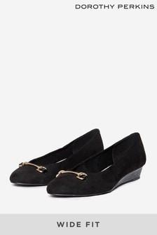Dorothy Perkins Wide Fit Paula Wedge Court Shoe