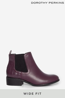 Dorothy Perkins Wide Fit Oxblood Maple Chelsea Ankle Boot