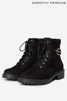 Dorothy Perkins Wide Fit Mona Biker Ankle Boot