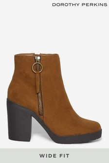 Dorothy Perkins Wide Fit Abby Chunky Ankle Boot