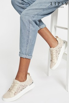 Lipsy Lace Scalloped Chunky Trainer